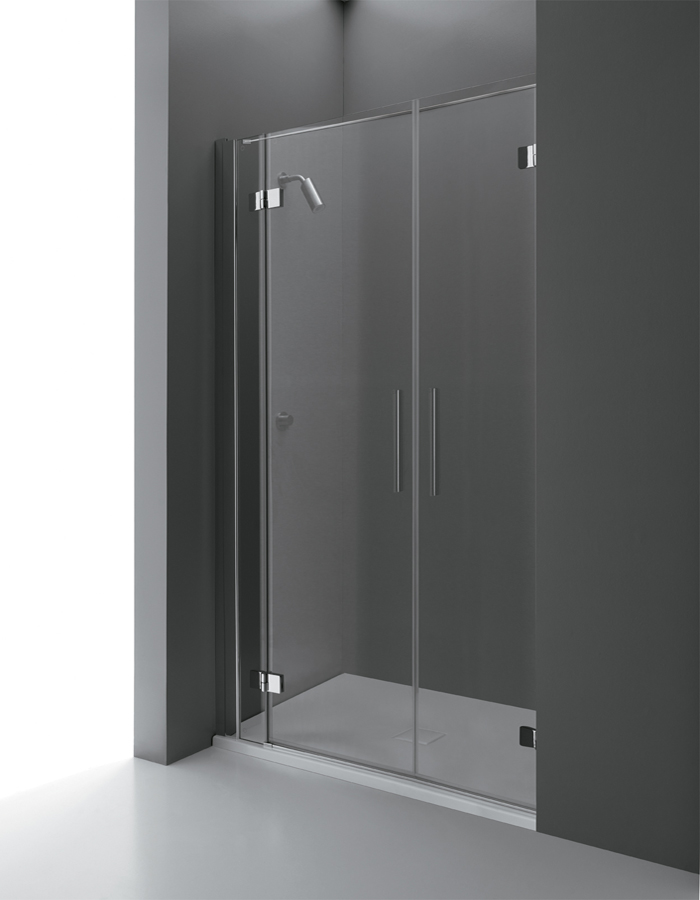 Porte doccia per nicchia - Porta a doppio battente ...