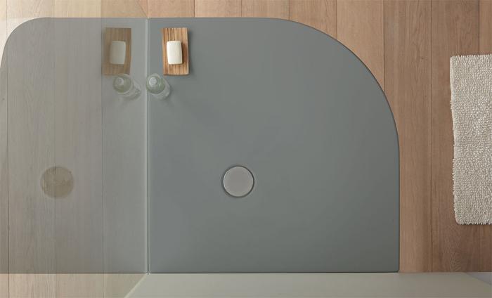 Piatti doccia in acrilico : piatto doccia angolare in acrilico