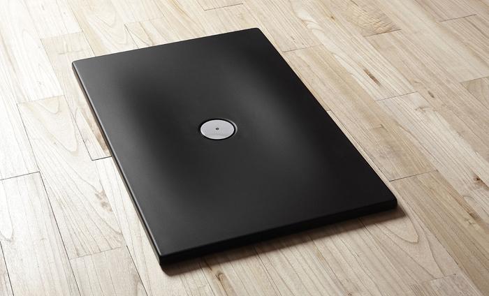 Piatti doccia piatto doccia rettangolare in acrilico nero h3 - Piatto doccia nero ...