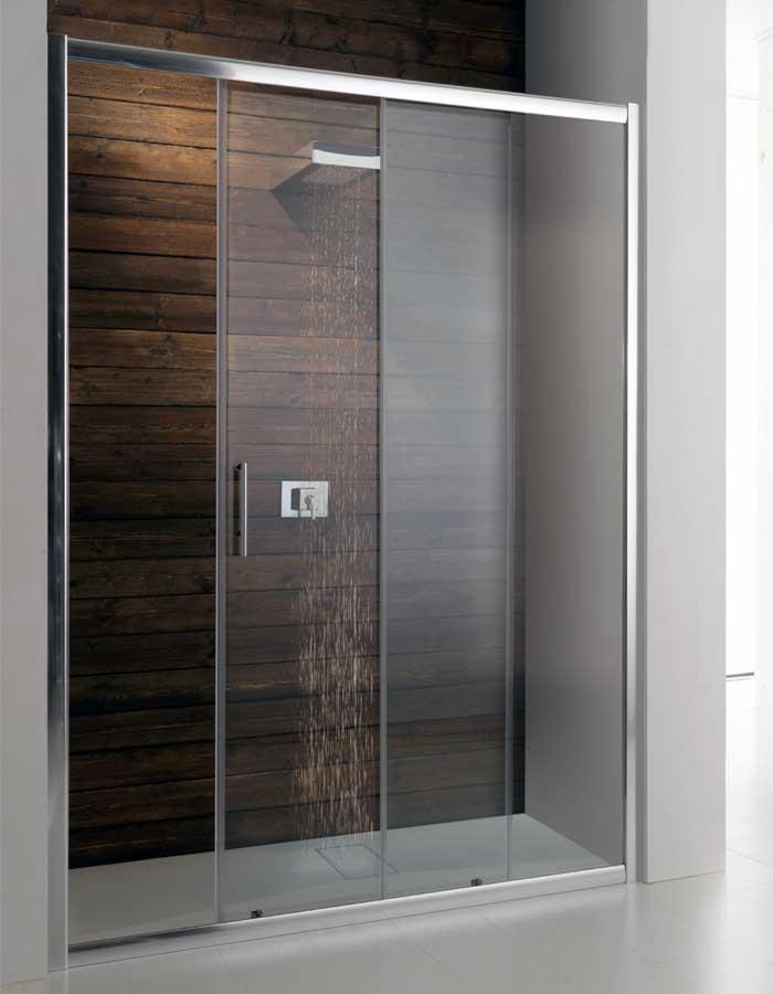 Porte doccia per nicchia : Porta box doccia scorrevole da 100 a 180 cm (PSC50)